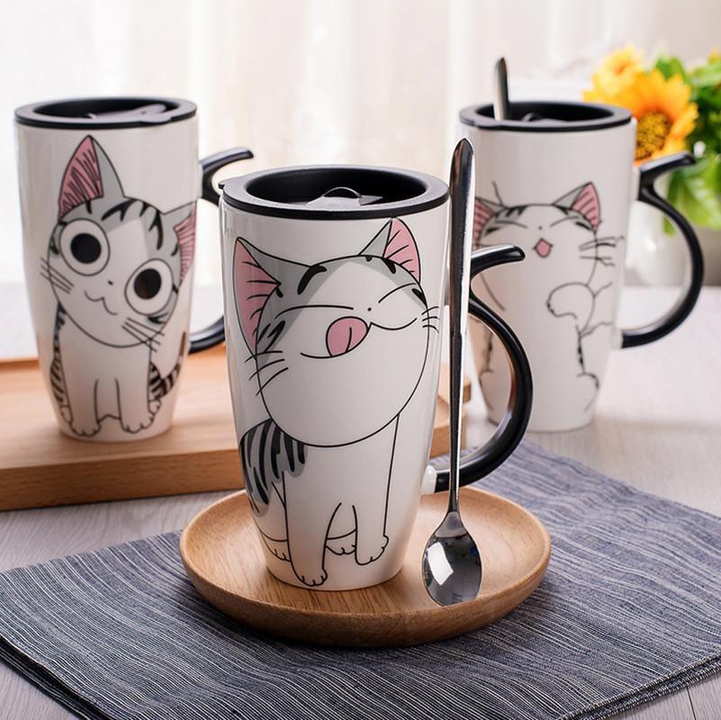 Cute Ceramic Cat Mugs